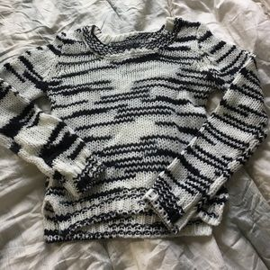 Almost Famous Knit Black and White Sweater